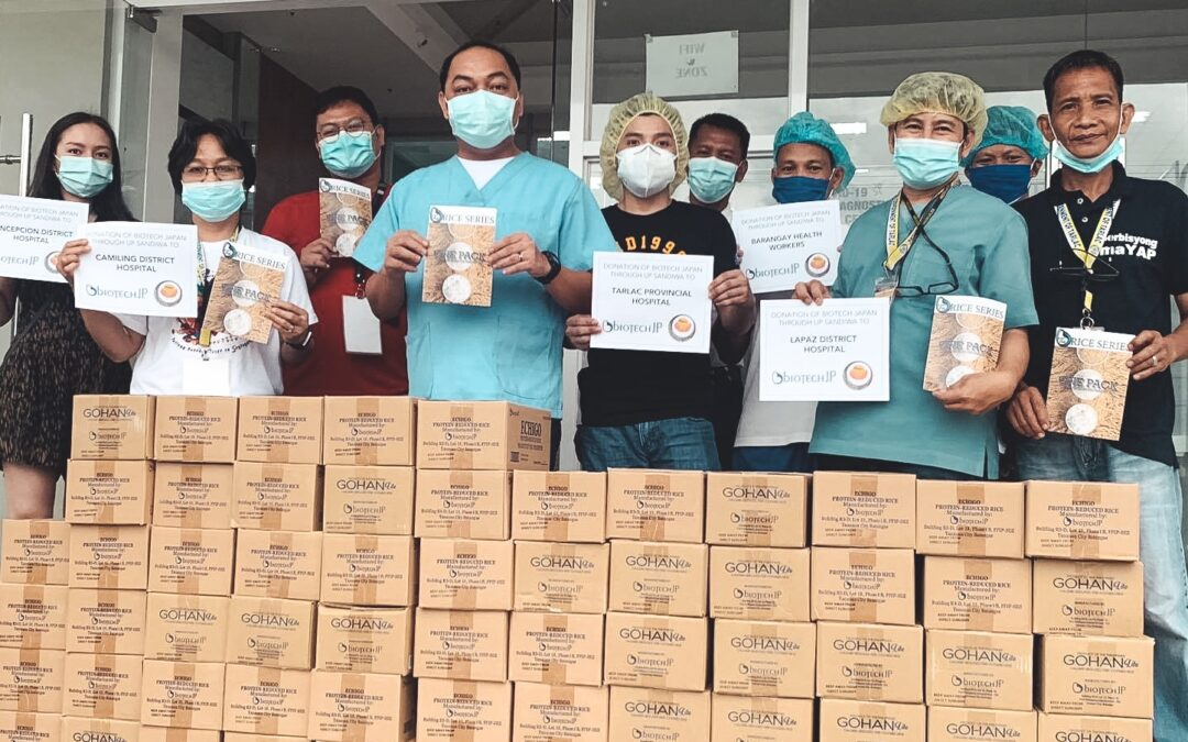 UP Sandiwa distributes Echigo and Gohan Lite donations to Medical Frontliners in North Luzon