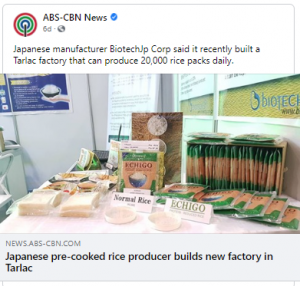 JICA Press Release Features BiotechJP Corp. on ABS-CBN News, Manila Bulletin and Business Mirror PH